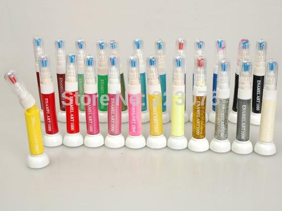 Hot 24 Kleuren 2 In 1 Nail Art Striper Pen Acryl Nail Art Schilderen