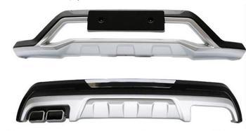 Di alta qualità in plastica ABS Chrome Anteriore e posteriore Imbottiture e Paraurti Skid Protezione Stampaggio 2pcs Per Il 2016 per Hyundai Tucson (anteriore + posteriore)