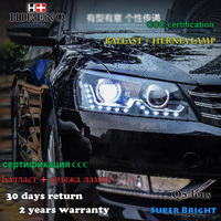 Hireno Car Styling Headlamp For 2011 2015 Volkswagen Passat B7 Headlight Assembly LED DRL Angel Lens