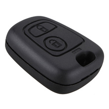цена на Durable Remote 2 Button Key Fob Shell Case Replace for Peugeot 107 207 307 407 106 206 306 406 Citroen C1 C2 C3 C4 Car Key Cover