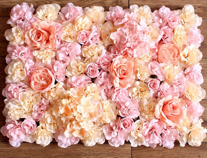 3D Artificial Rose Hydrangea Flower Wall Wedding Flower backdrops decoration Home Hotel Party Stage Arch Pillar Decoration