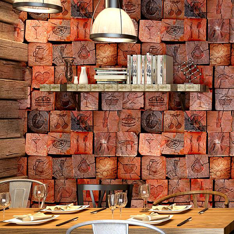 New Classic Vintage Wall Paper Waterproof PVC Wallpapers 3D Bar Chamber Contact Paper 3D Wall Panels Vinyl Wood Wallpaper Roll wallpapers youman 3d brick wallpaper wall coverings brick wallpaper bedroom 3d wall vinyl desktop backgrounds home decor art