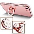 Роскошные Diamond Case For Apple IPhone 7 Bling Case Сильный Магнит адсорбировать Обложка Для IPhone 7 Diamond Case С Фигнер Кольцо Стенд