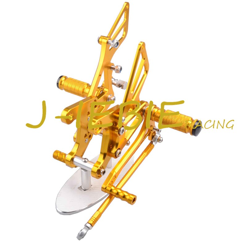 CNC Racing Rearset Adjustable Rear Sets Foot pegs Fit For Kawsaki NINJA ZX6R 2005 2006 2007 2008 GOLD morais r the hundred foot journey