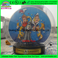 Customize background size X christmas outdoor decorations giant inflatable snow globe photo booth,giant snow globe