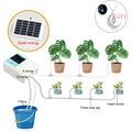 Più nuovo Intelligent Giardino Irrigazione Automatica Dispositivo di Ricarica A Energia Solare Pompa Ad Acqua Sistema di Timer In Vaso Pianta di Irrigazione goccia a goccia