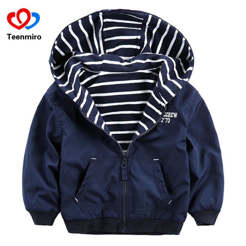 Double-sided Clothes Boys Windbreaker Kids Outerwear Children Jackets Letter Striped Coats for Boy Outdoor Casual Style JacketsDouble-sided Clothes Boys Windbreaker Kids Outerwear Children Jackets Letter Striped Coats for Boy Outdoor Casual Style Jackets
