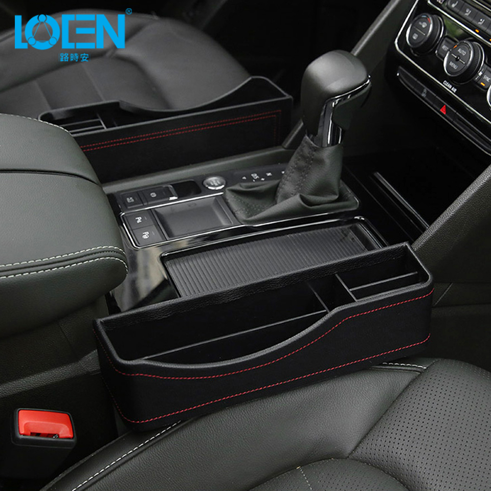 Wallets pentagon Car Seat Side Organiser box Cards Coins Keys Car Console Side Pocket Seat Crevice Storage Box PU Leather Car Gap Filler for Mobile Phones