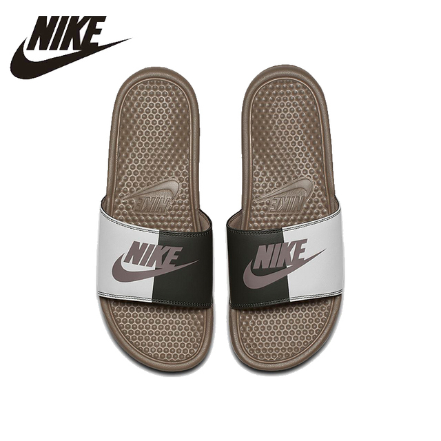 8dfa0d503 NIKE Benassi JDI Beach   Outdoor Sandals Summer Stability Quick-Drying  Anti-chlorine Sneakers For Men Shoes 343880
