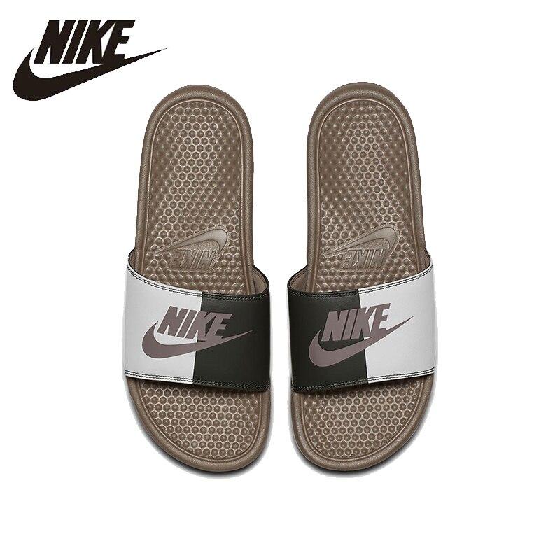 NIKE Benassi JDI Plage et En Plein Air Sandales D'été La Stabilité À Séchage Rapide Anti-chlore Sneakers Pour Hommes Chaussures #343880