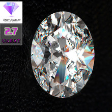 8*10mm Oval Cut 2.7 carat White Moissanite Stone Loose Diamond for Wedding Ring