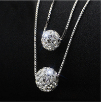 2016 New Arrival High Quality Fashion Shambhala 925 Sterling Silver Ladies Necklaces Short Chain Jewelry Gift