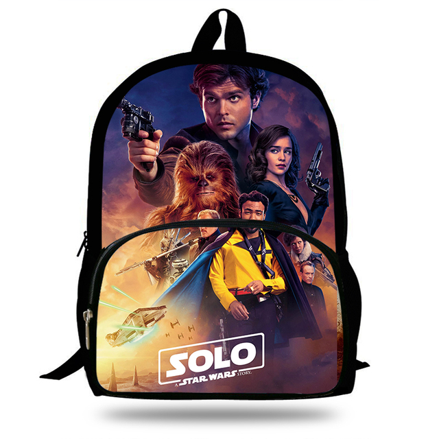 16-Inch 2018 Hot Children Solo A Star Wars Story Backpacks For School Boys  Girls Printed Superhero Backpack For Kids Students b33ea12d8df48