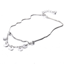 100% 925 sterling silver fashion female anklet jewelry ladies`birthday gift anklets wholesale girl cheap summer hot sell