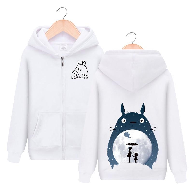 Tonari no Totoro Cute Print Zipper Hooded Hoodie Cosplay Costume Men Women Jacket Casual Sweatshirt Streetwear
