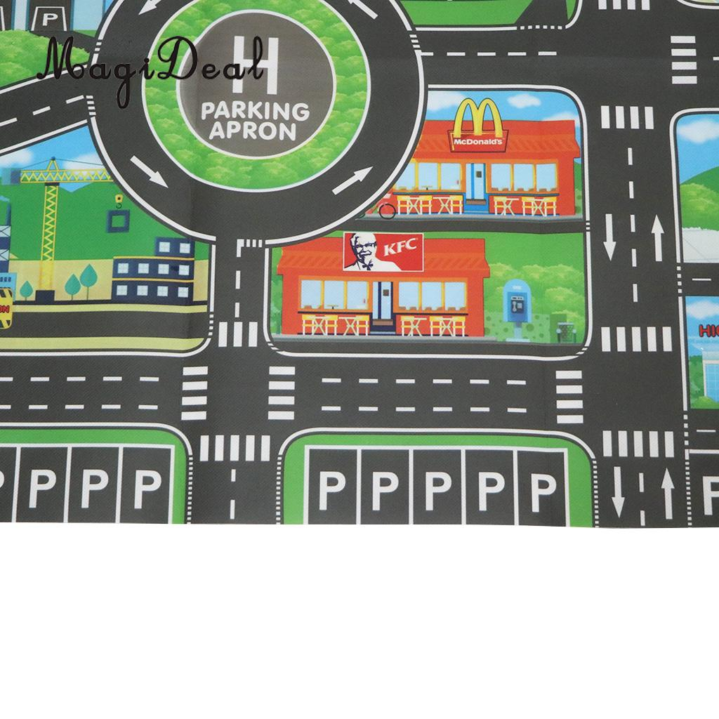 HTB16bf.XUzrK1RjSspmq6AOdFXai City Traffic Road Carpet Playmat Rug For Cars & Train Game Toys Baby Children Educational Play Mat For Bedroom Play Room Game #B