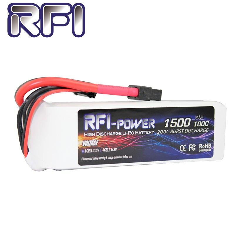 RFI 1500mAh 1300mAh 14 8V 100C 4S Lipo Battery Pack