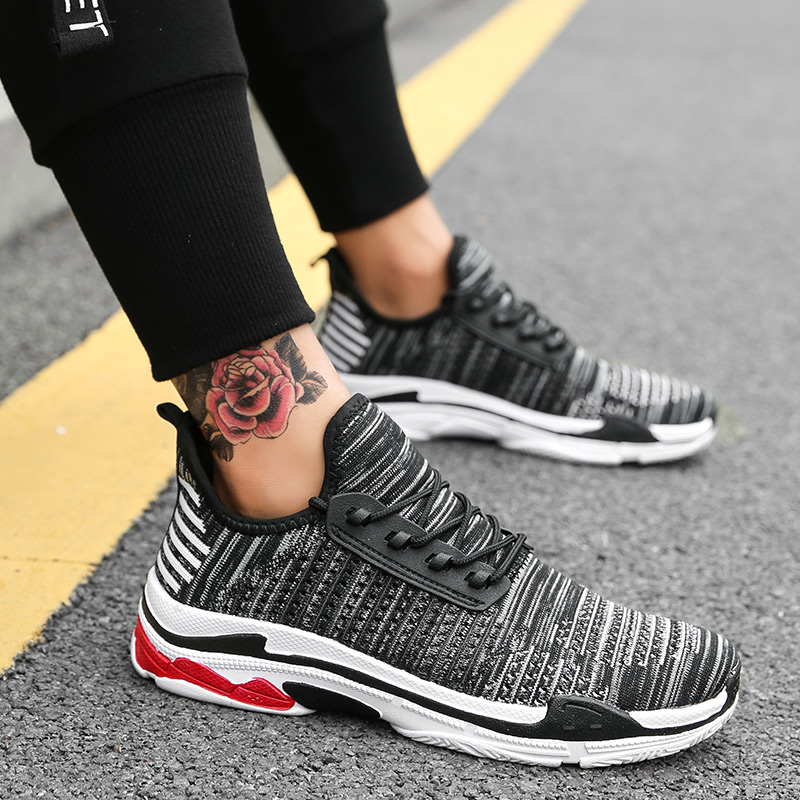 Respirant De Hommes Mode Fly À Top Armure rouge 2018 Nouveau Bleu Net blanc Chaussures Sneakers Tendance Loisirs Maille La Yq4q1wp