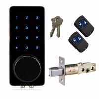 Electronic Lock Touch Keypad Deadbolt Code Lock Entry Home Security Unlock With Remote Control Code Or