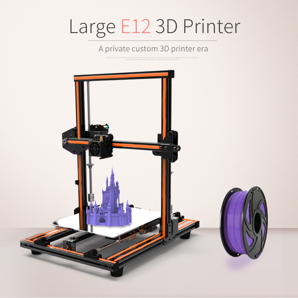 Anet E12 3D Printer Kit diy High precision steel rod Large Printing Size 300*300*400mm Reprap prusa i3 DIY Set Off-line Printing