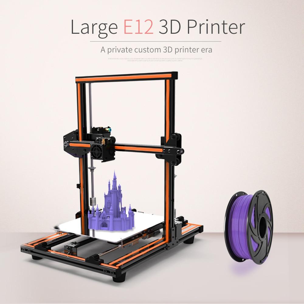 Anet E12 3D Printer Kit diy High precision steel rod Large Printing Size 300*300*400mm Reprap prusa i3 DIY Set Off-line Printing st luce подвесная люстра st luce loopo sl848 103 08