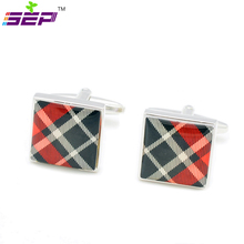 New 2015 Fashion Men s Gift Present Wedding Party Square Enamel Kilt Style Cuff Links Cufflinks