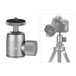 Image 5 - Andoer Mini rótula de bola de trípode de aleación de aluminio, montaje de trípode con orificio de 1/4 pulgadas, rotación de 360 grados, Panorama para cámaras de teléfonos inteligentes