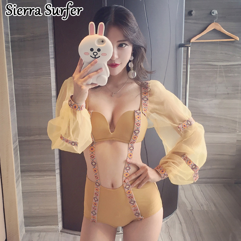 Swimwear Large Size One Piece Swimsuit Swiming Suit Women Woman For Bathing Sexy 2018 New Swimming Suits Letter Cotton Sierra