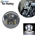 5 3/4 ''5 6 дюйма светодиодные фары лампа DRL для Dyna Sportster Softail Светодиодные фары фара для мотоцикла черный