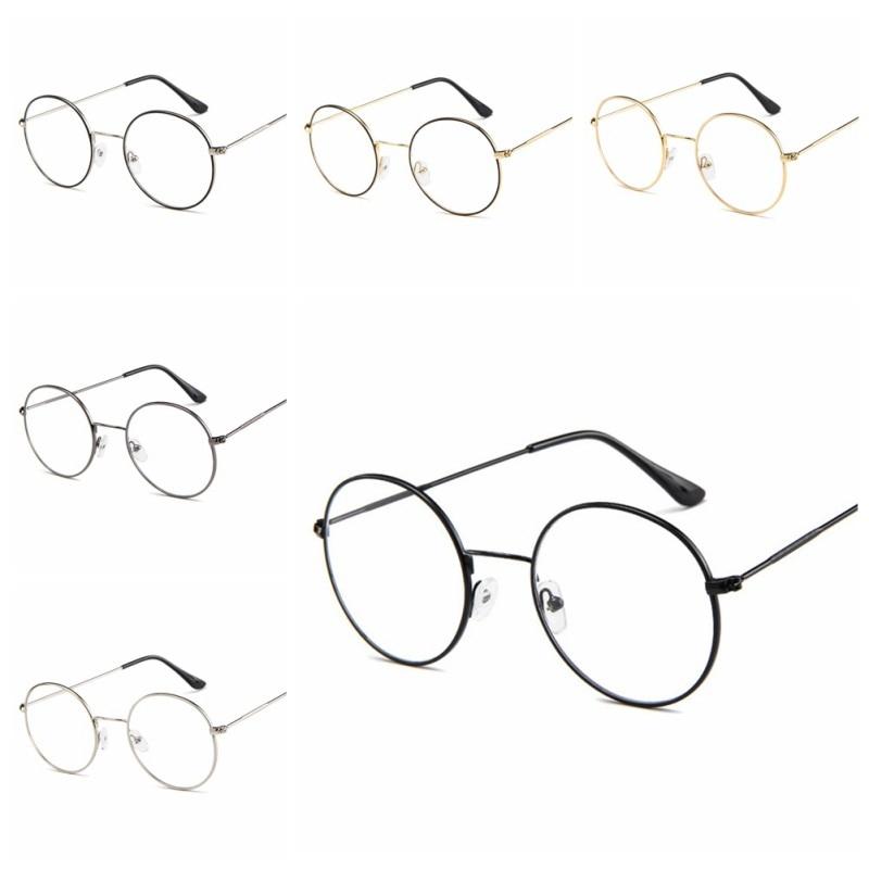 New Unisex Korean Style Round Frame Clear Lens Glasses Sunglasses
