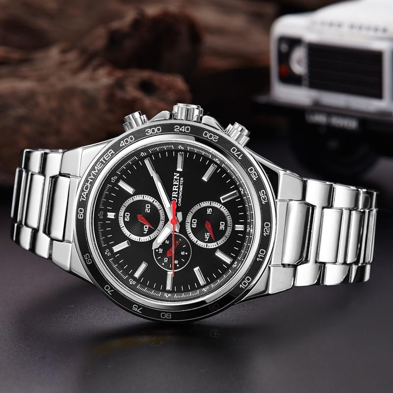 Luxury Top Brand Mens Boy Military Dress JAPAN Quartz Steel Watches Men Casual Clock Male Wristwatch Relogio Masculino CURREN