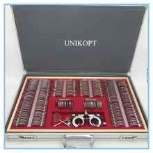 Teste lente conjunto 266 pces lente evidência caixa borda de alumínio uma classe qualidade js 266 caixa de alumínio