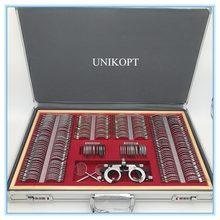 Teste lente conjunto 266 pces lente evidência caixa borda de alumínio uma classe qualidade js-266 caixa de alumínio