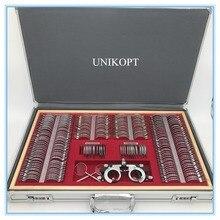 Zestaw soczewek próbnych 266 sztuk obiektyw pudełko dowodów ze stopu aluminium, z klasy jakości JS 266 aluminium przypadku