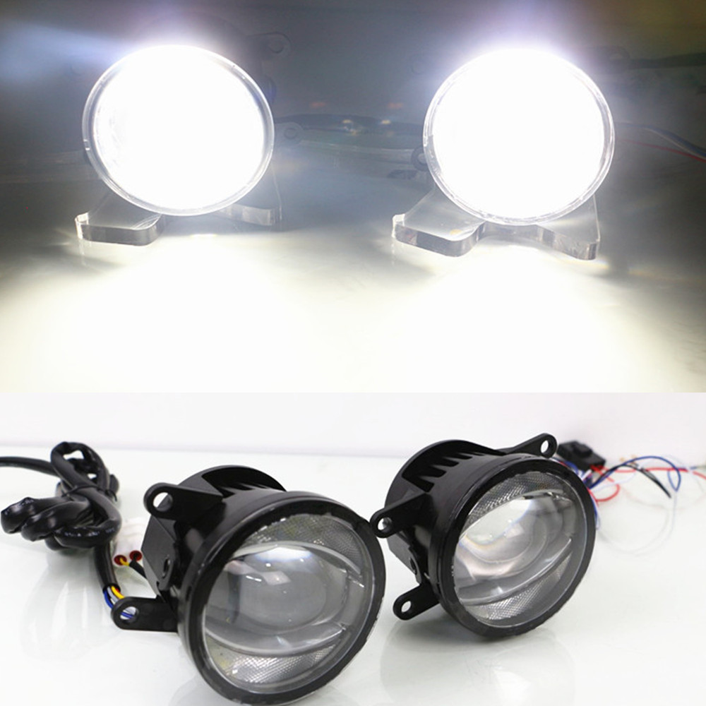 CSCSNL 2 Pcs LED Car DRL Daytime Running Lights And Fog