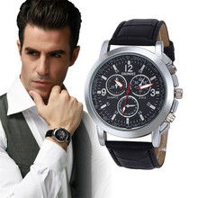 "New style cheap Analog mature men's  watches  Luxury Fashion Crocodile Faux Leather Men""s Analog Watch Watches New Dec 15"