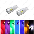 1pc Car DC12V T10 W5W 194 168 Wedge 6 SMD 5630 LED Light Bulb With Lens White,red,blue,green,yellow,pink,ice blue #CA1719