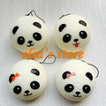 squishies wholesale 20pcs kawaii 7cm panda squishy kids squeeze toy lanyard for key strap for mobile phone pendant Free Shipping