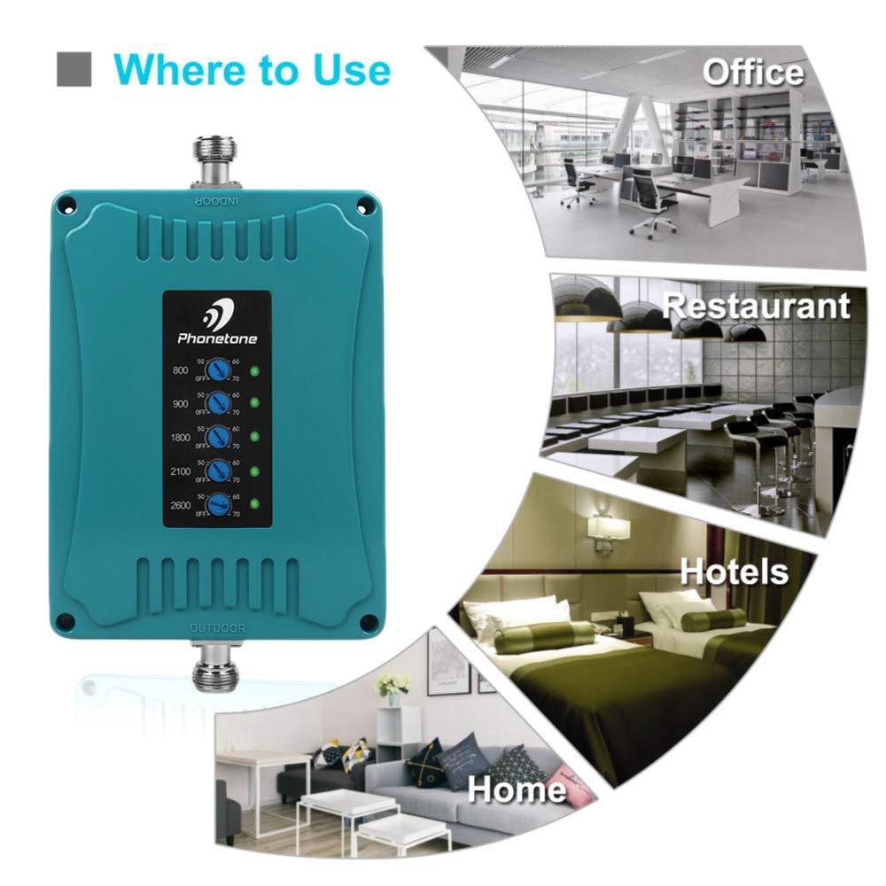 Amplificateur de Signal 2G 3G 4G B1/B3/B7/B8/B20 amplificateur de Signal LTE 900/1800/2100/800/2600 MHz répéteur de téléphone Mobile 5 bandes pour l'europe % - 4