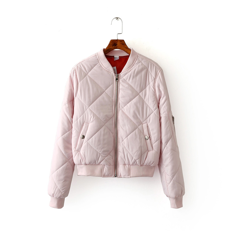Women Bomber Jacket Quilting Quilted Jacket Short Thin