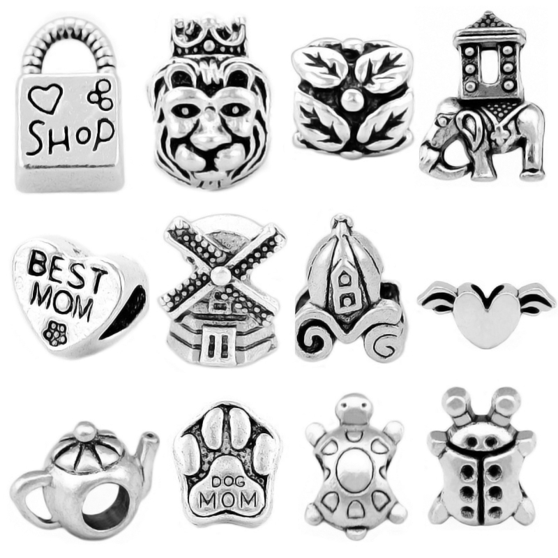 12 Pieces ,925 Silver The Lion King,Best MOM Beads Set Fit pandora Bead Charm Bracelets&Bangles ,Wholesale SPB097 Бюстгальтер