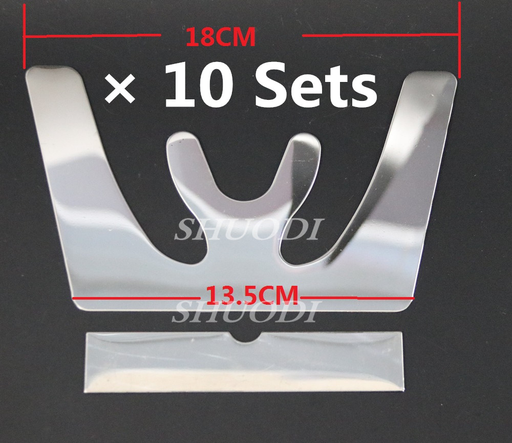 10 Sets Dental Occlusal Maxillary Casting Jaw Fox Plane Plate Autoclavable Stainless Steel