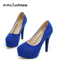 Size 10 10.5 Simple Basic Models Platform Faux Suede Shoes Stiletto High Heels Sexy Woman Fashion Night Party Pumps