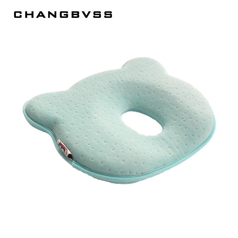 Almofadas do bebê da espuma da memória que dão forma a travesseiros respiráveis do bebê para impedir o descanso ergonômico dos recém-nascidos da cabeça lisa almofada infantil 0 12 12 m