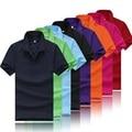Летом стиль твердые мужские рубашки поло Одежда Топы с коротким рукавом Тройники для женщин