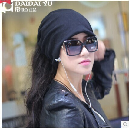 Free shipping New the autumn winter woman Ms Set head cap Multi-functional han edition tide hair band collar turban hat