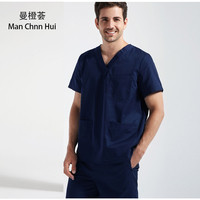 Summer Medical Scrub Set Hospital Uniform Beauty Salon Dental Clinic Work Uniform Male Surgical Gown