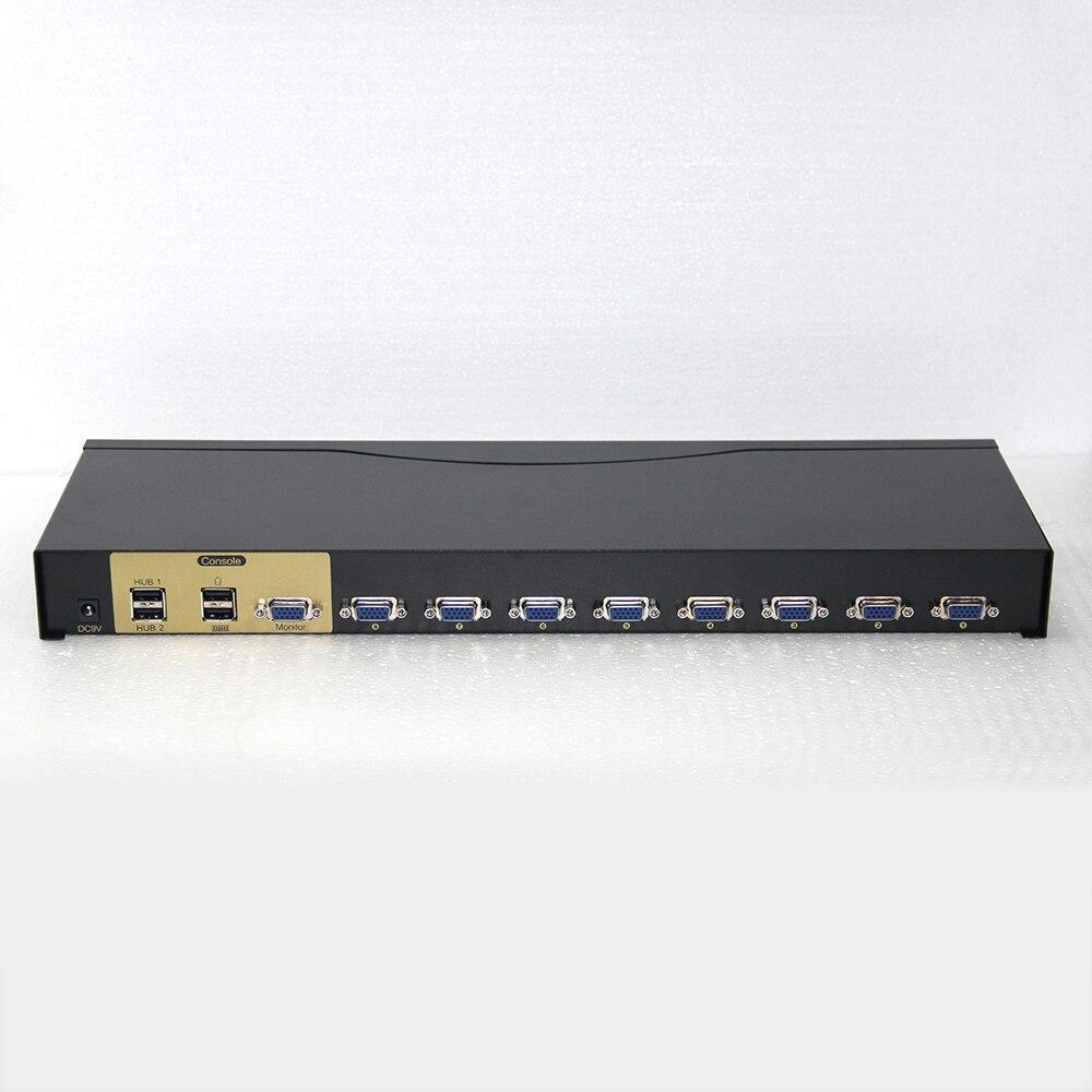Charmvision UK801R 8 ports commutateur KVM USB ordinateur commutateur monté sur rack 4 USB 2.0 simultanément télécommande 8 pièces câble kvm - 3