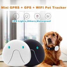 Мини-трекер для собак GPRS, gps, wifi, тройной локатор, позиционирование, светодиодный, для собак, кошек, детей, трекеры, ошейник, искатель, оборудование, последняя модель
