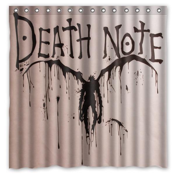 Novelty Bathroom ProductsDeath Note Devil Printed Waterproof Polyester Shower Curtain Bath